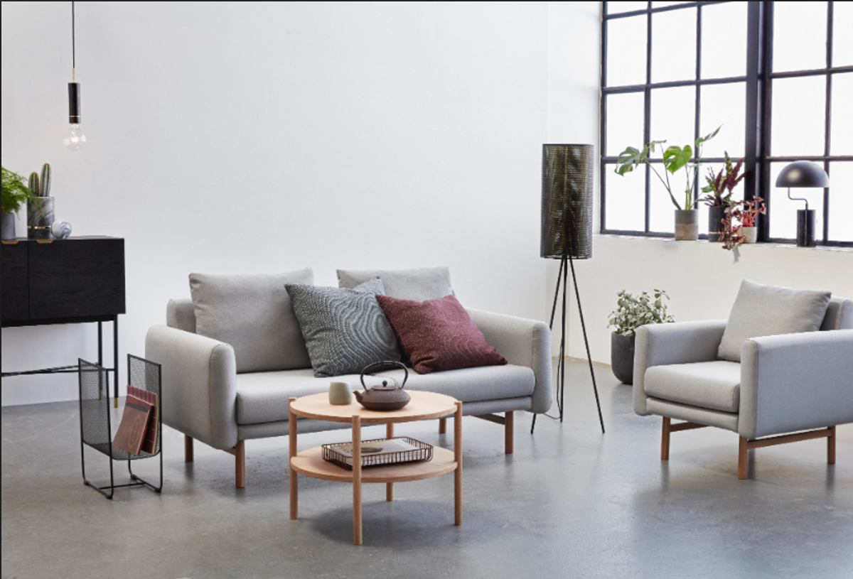 Sofabord rundt Eik - Hübsch