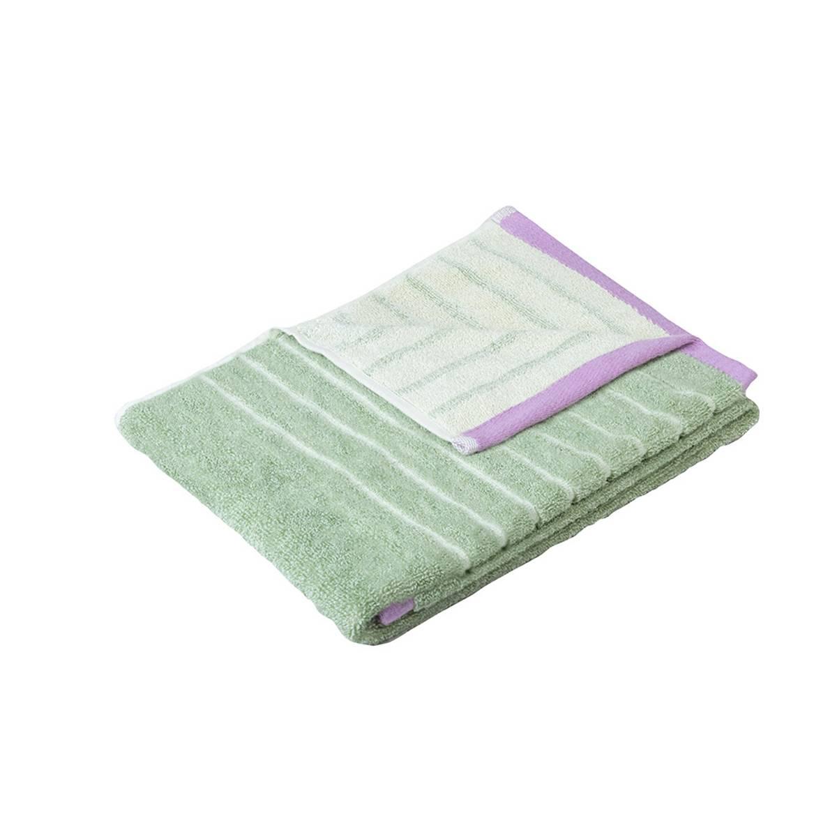Håndkle i grønn - 2 størrelser - Hübsch