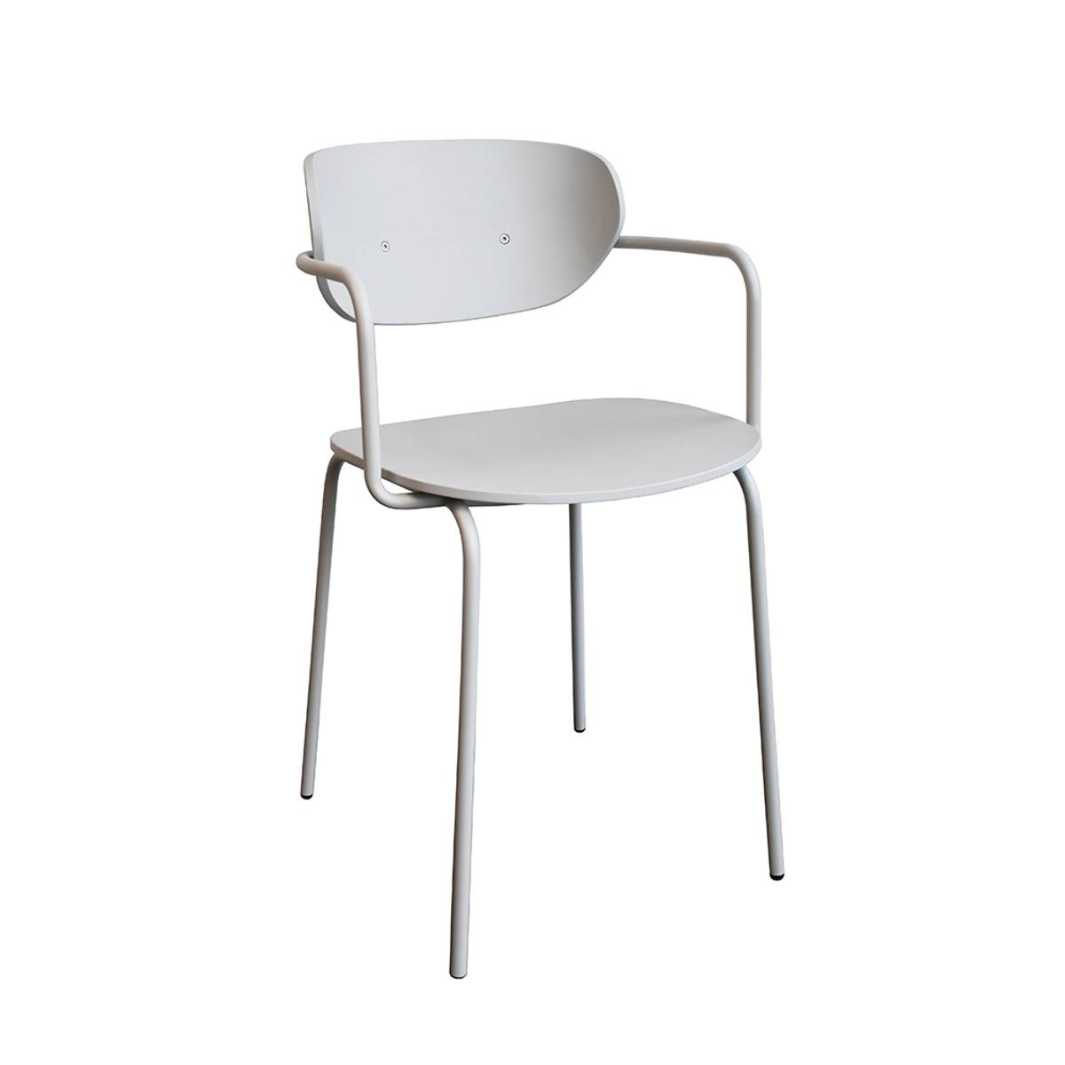 Spisestol i grå og metall- Hübsch